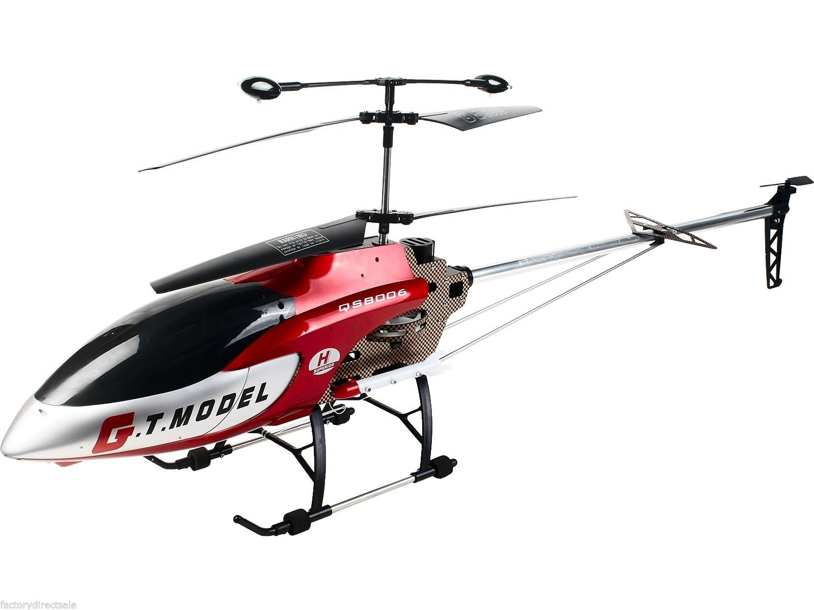 Sawan Shop 53 Inch Extra Large GT QS8006 2 Speed 3.5 Ch RC Helicopter Builtin GYRO Red
