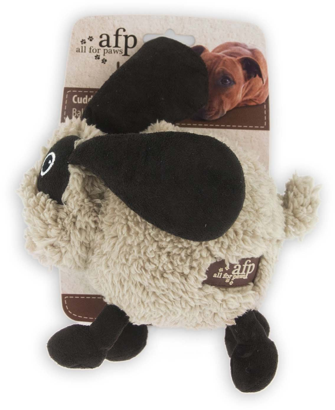 chic All for Paws Assorted Lamb Cuddle Ball Bouncers for Dogs, 6-Inch