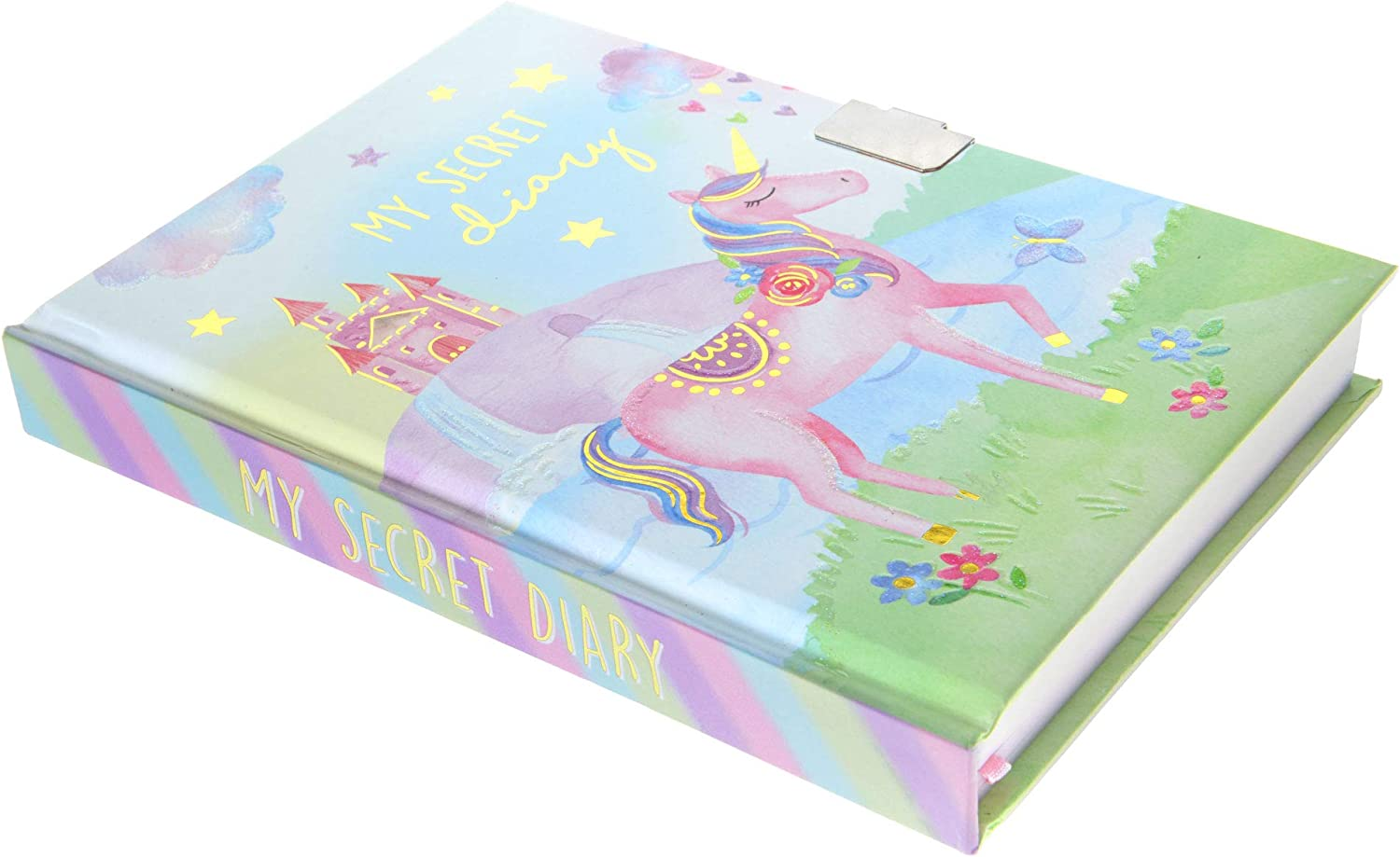 Jewelkeeper Girls Unicorn Secret Diary with Heart Shaped Lock and Key Private Journal