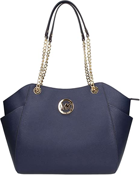 f95602bb19a75 Michael Kors Jet Set Travel LG Chain Navy Blue  Amazon.ca  Home ...