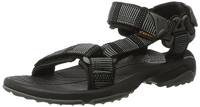 a9c3fde78406 Teva Mens Terra Fi Lite Textile Atitlan Black Sandals 9 US