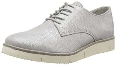 25118 - Zapatos Derby Mujer, Color Gris, Talla 39 Marco Tozzi