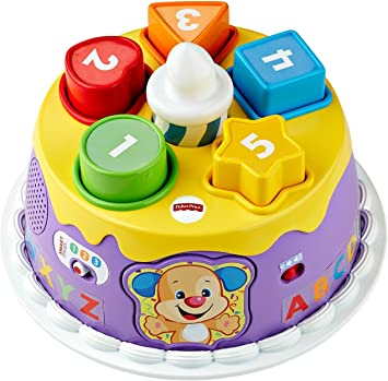 Super Fisher Price Dyy03 Learning Fun Birthday Cake Amazon Co Uk Funny Birthday Cards Online Alyptdamsfinfo
