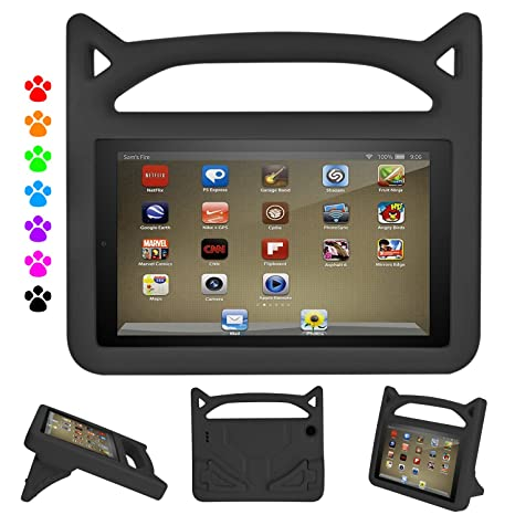 All-New Fire 7 2019 Case,Fire 7 Table Case,Dinines Kids Shock Proof  Protective Cover Case for Amazon Fire 7 Tablet (Compatible with 5th  Generation