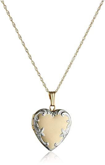 antique item lockets brass heart setting sale mm blank pendant for