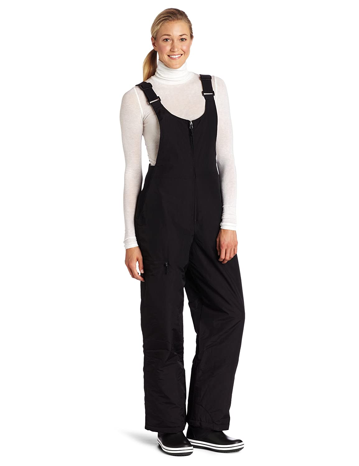 White Sierra Women's Insulated Bib Snow Pant (Black, Medium) D9717W
