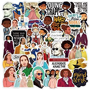 Hamilton Musical Stickers for Laptop and Water Bottle, Cute Vinyl Decal for Teens,Girl Phone,Bike,Skateboard,Travel Case,Computer