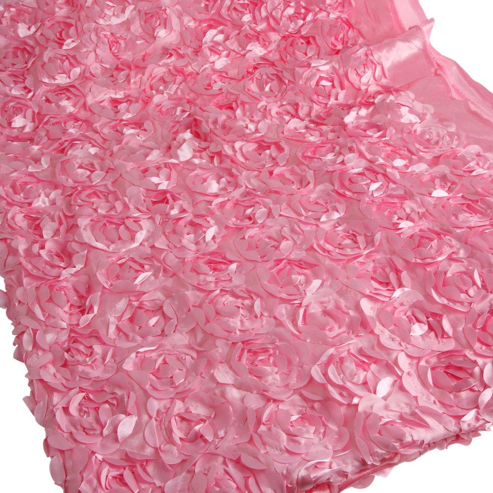 BINGHONG3 Tenda in Raso con Rose 3D 140 x 200 cm Beige