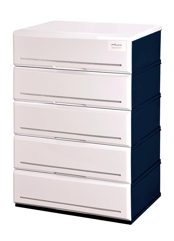 アルモアール 収納ボックス 4段 木製天板 W62×D45×H74.9cm A620-4W B017BENPU4 4段 ホワイト ホワイト 4段