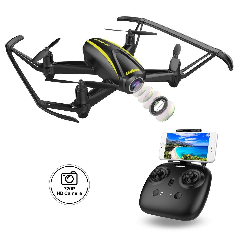 e Grandangolare 120/° Quadrirotore Wi-Fi FPV Con Altitude Hold ed Headless Mode Per Principianti 1280 x 720p DROCON Navigator Drone Per Ragazzi Con Telecamera HD