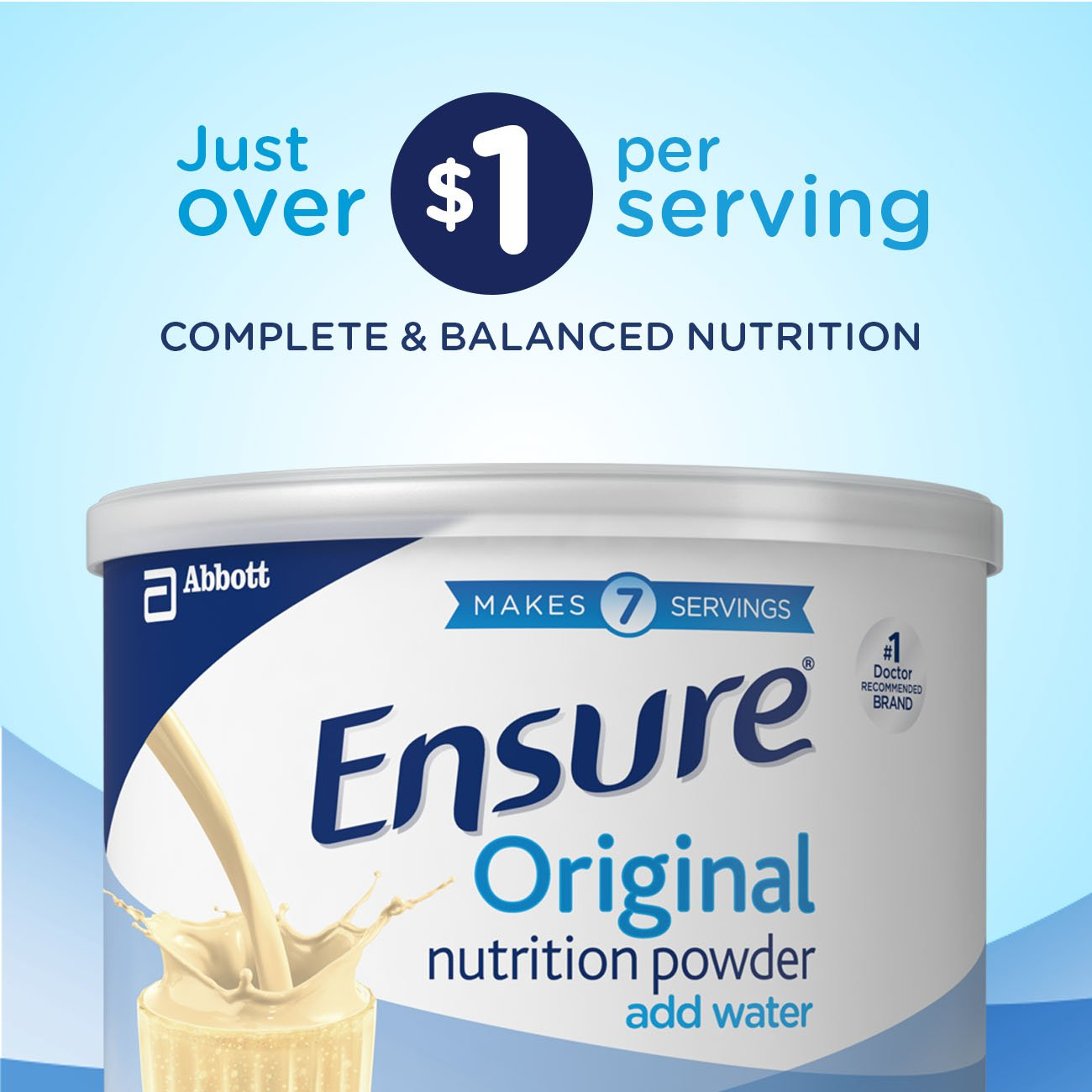 Ensure Original Nutrition Powder with 9 grams of protein, Meal Replacement, Vanilla, 14 oz, 6 count by Ensure (Image #11)