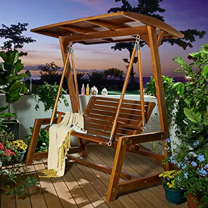 Amazon Com Hyyty Y Outdoor Swing Chair All Solid Wood