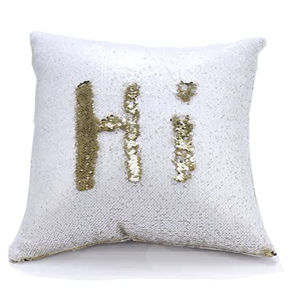 urskytous reversible sequin pillow case decorative mermaid pillow cover color changing cushion throw pillowcase 16 - Color Changing Pillow