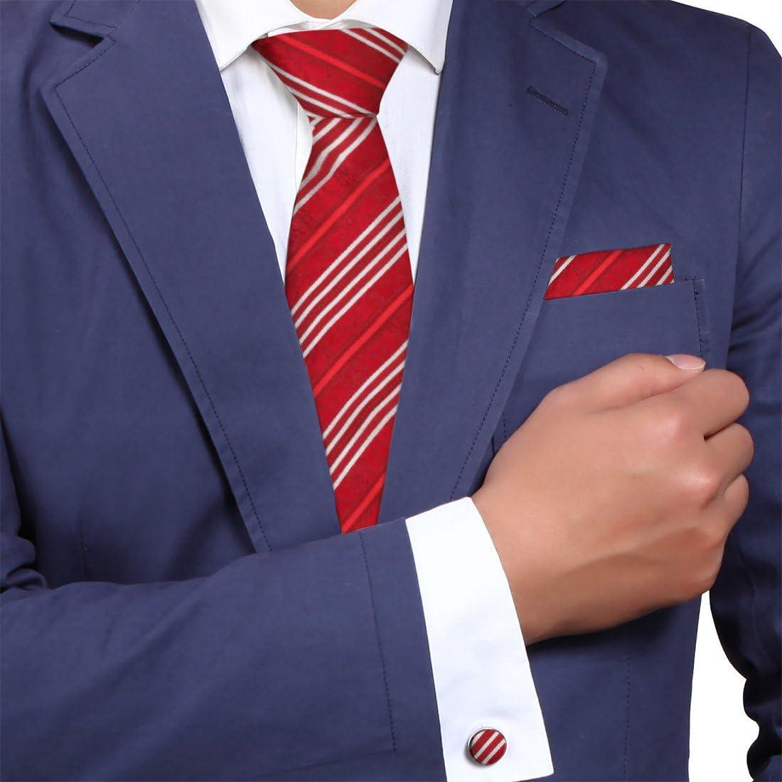 Y&G YAC2B05 Patr¨®n de color Multi Idea regalo de Trabajo corbata de seda Set 3PT