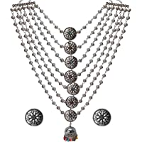 Crunchy Fashion Bollywood Traditional Indian/Bohemian Bollywood Style Afgani Oxidized Silver Boho Gypsy Tribal Jewelry…