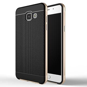 Galaxy A5 2016 Funda , ivencase Prima Híbrido Anti-rasguños Marco Bumper Carcasa Doble Capa Fibra de Carbono para Samsung Galaxy A5 2016 5.2