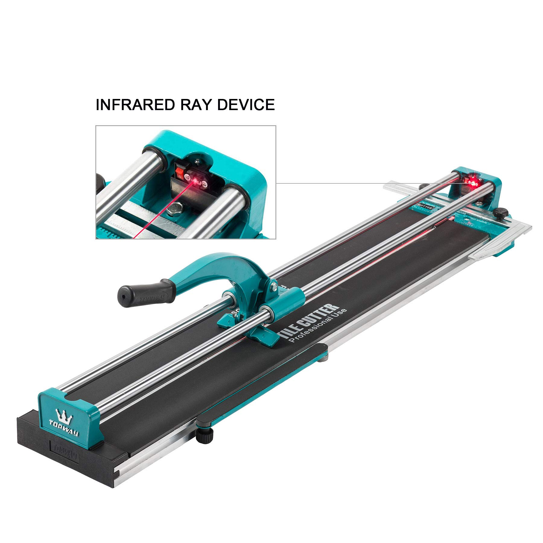 CO-Z Manual Tile Cutter 40'' Cutting Length Professional Porcelain Ceramic Floor Tile Cutter Machine Adjustable Laser Guide for Precision Cutting (40 inch) by CO-Z (Image #5)