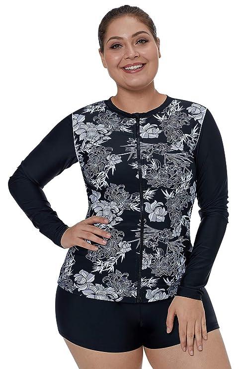 aa4850519e Eozy Vêtement pour Natation Zippé Simple Fermeture Six Tailles Slim Maillot  de Bain Noir Utilisé: Amazon.fr: Vêtements et accessoires