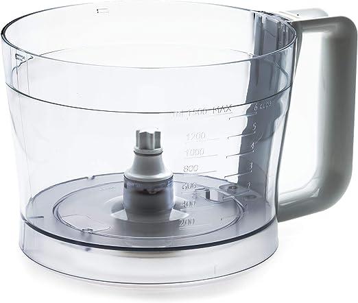 Philips Recipiente para robot de cocina CP9828/01 - Accesorio procesador de alimentos (Transparente, Blanco, De plástico, HR7627, HR7628): Amazon.es: Hogar