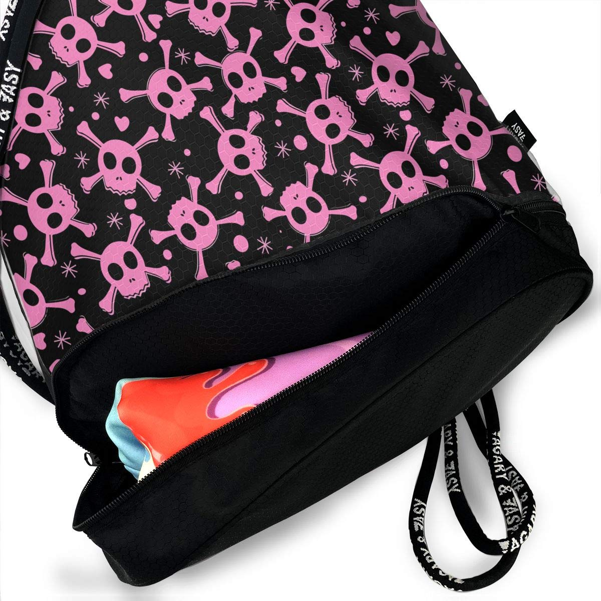 HUOPR5Q Penguin Drawstring Backpack Sport Gym Sack Shoulder Bulk Bag Dance Bag for School Travel