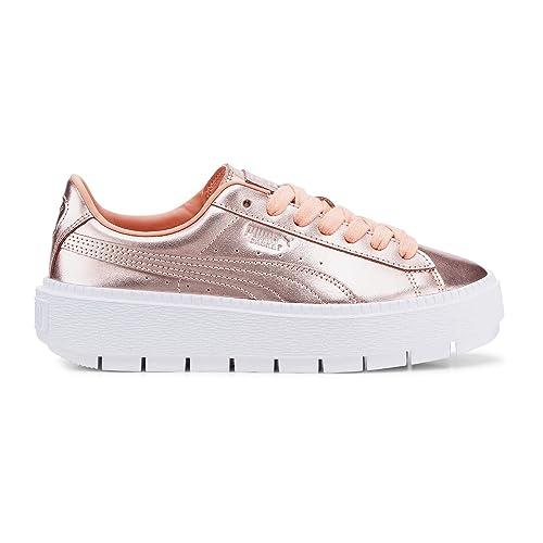 Puma Basket Platform Trace pour Femme: : Chaussures