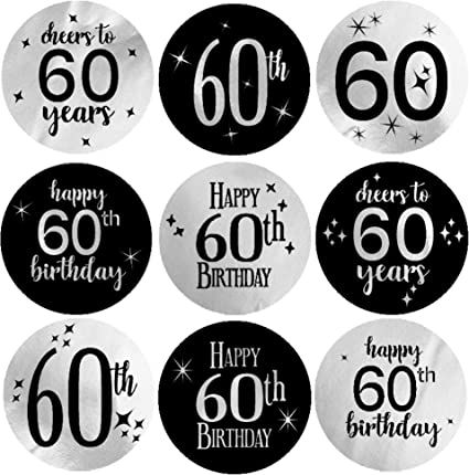 """FUN SELF ADHESIVE STICKERS /"""" 60th BIRTHDAY/"""" FOR CARDS /& CRAFT"""