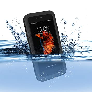 pretty nice 1b495 53ec9 floveme Waterproof Case for iPhone 7 Certificate IP68 Dust Resistant, Rain,  Snow and Oil, Ideal for skiing, Swim, Fish, Washing and Cooking