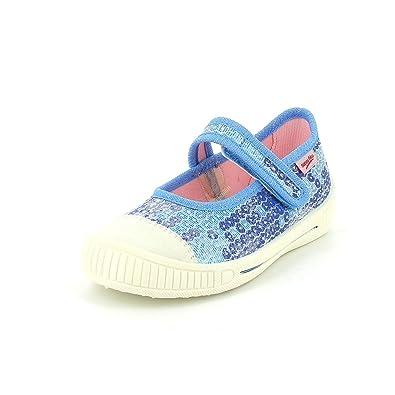 Superfit BELLA - pantuflas de lona niña, color azul, talla 25
