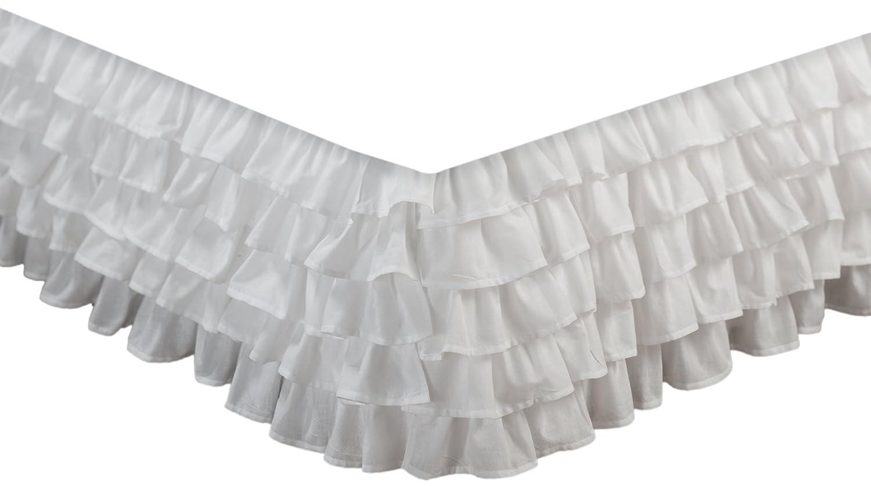 Greenland home fashions multi-ruffle bedskirt