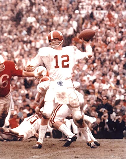 purchase cheap e6c16 29e93 Amazon.com: Ken Stabler Unsigned Alabama Crimson Tide Color ...