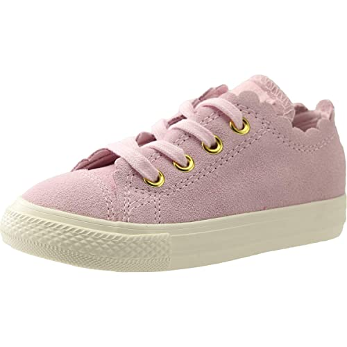 9ae179f291ec Converse Chuck Taylor All Star Ox Frilly Thrills Pink Foam Suede 6 UK Child
