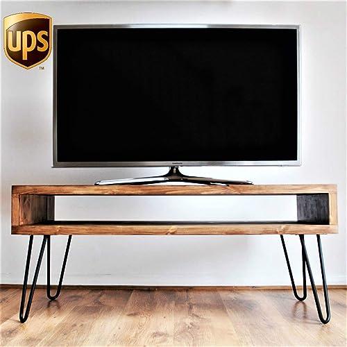 Amazon Com Handmade Wood Tv Stand Unit Table Shabby Chic Storage