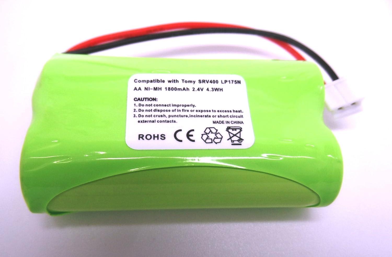 Batterie de rechange pour babyphone num/érique Tomy srv400 2,4/V rechargeable 1800/mAh