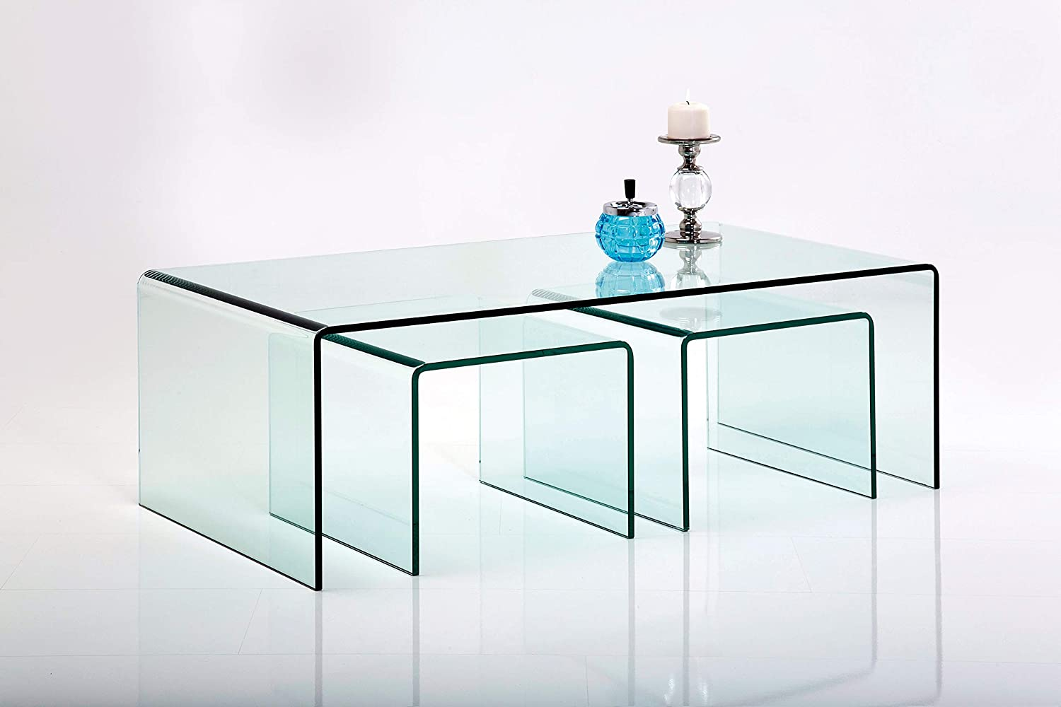 3//Set Kare 76743/Clear Club Table Basse