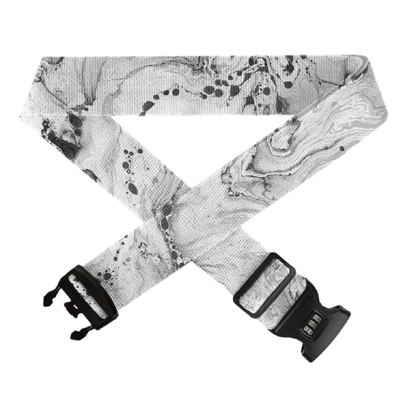 Fashion Durable Travel Bag Accessories Luggage Straps Bag Adjustable Belt Marble GLORY ART 1 Pack Suitcase Straps