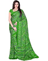 Aaradhya Fashion Women Crepe Saree with Blouse Piece (AFMOSS-0105_Green)