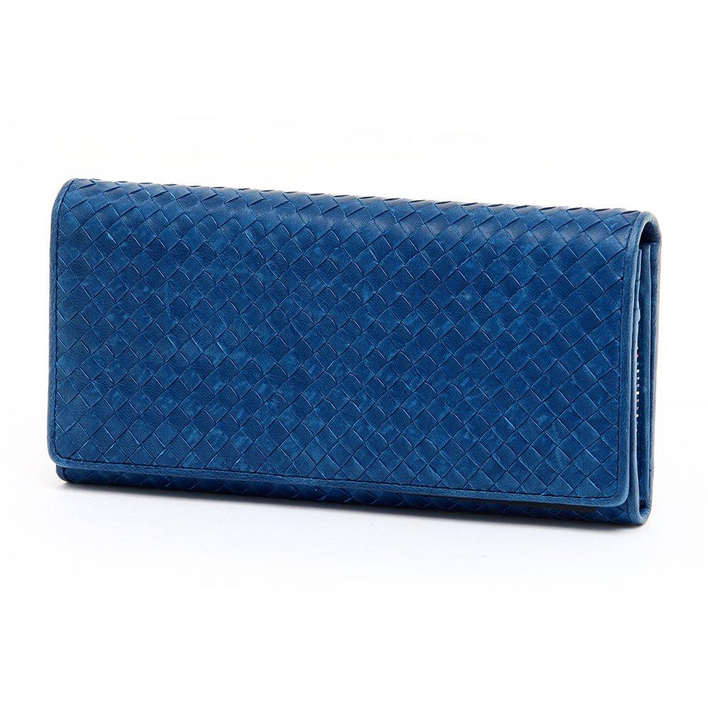 (ソラチナ) SOLATINA 長財布 [ホースレザーメッシュ加工] sw-36091 B012BWE6KO 6.ネイビー