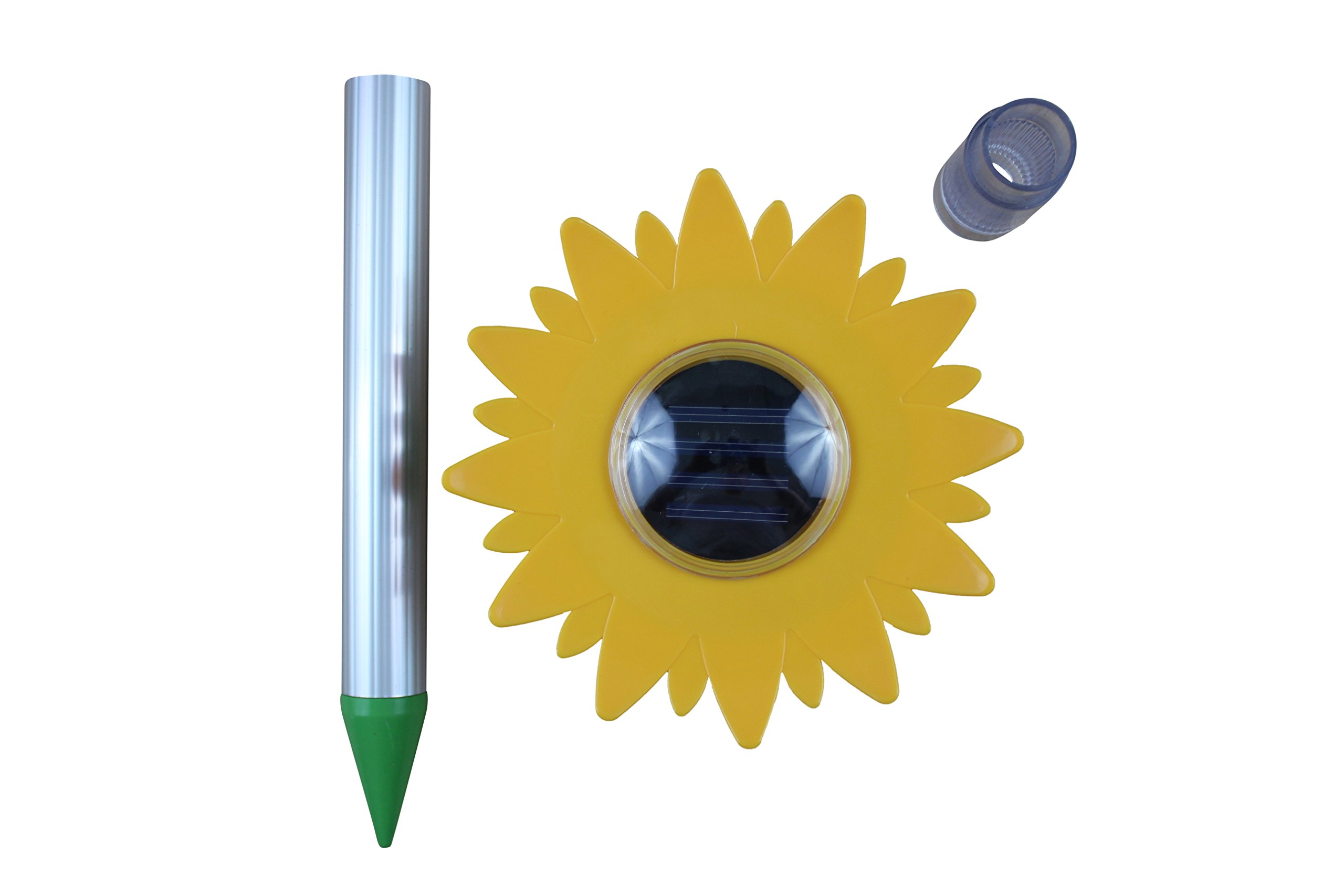 Mole Repeller UltraSonic Solar - Voles, Shrews, Gophers Repellent Flower