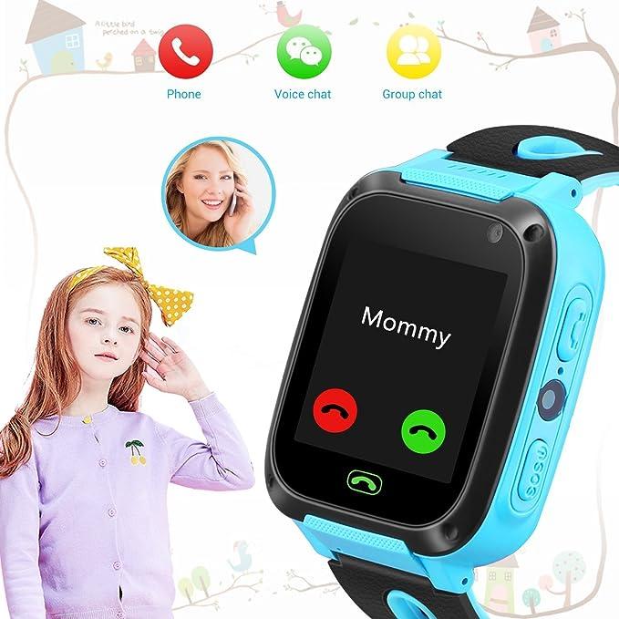 Niños Smartwatch - Localizador de posición GPS/LBS Reloj de Alarma SOS Infantil Relojes de Pulsera Cámara Digital Reloj móvil móvil Mejor Regalo para niños ...