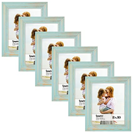 Amazon.com - Langdons 8x10 Real Wood Picture Frames (6 Pack ...