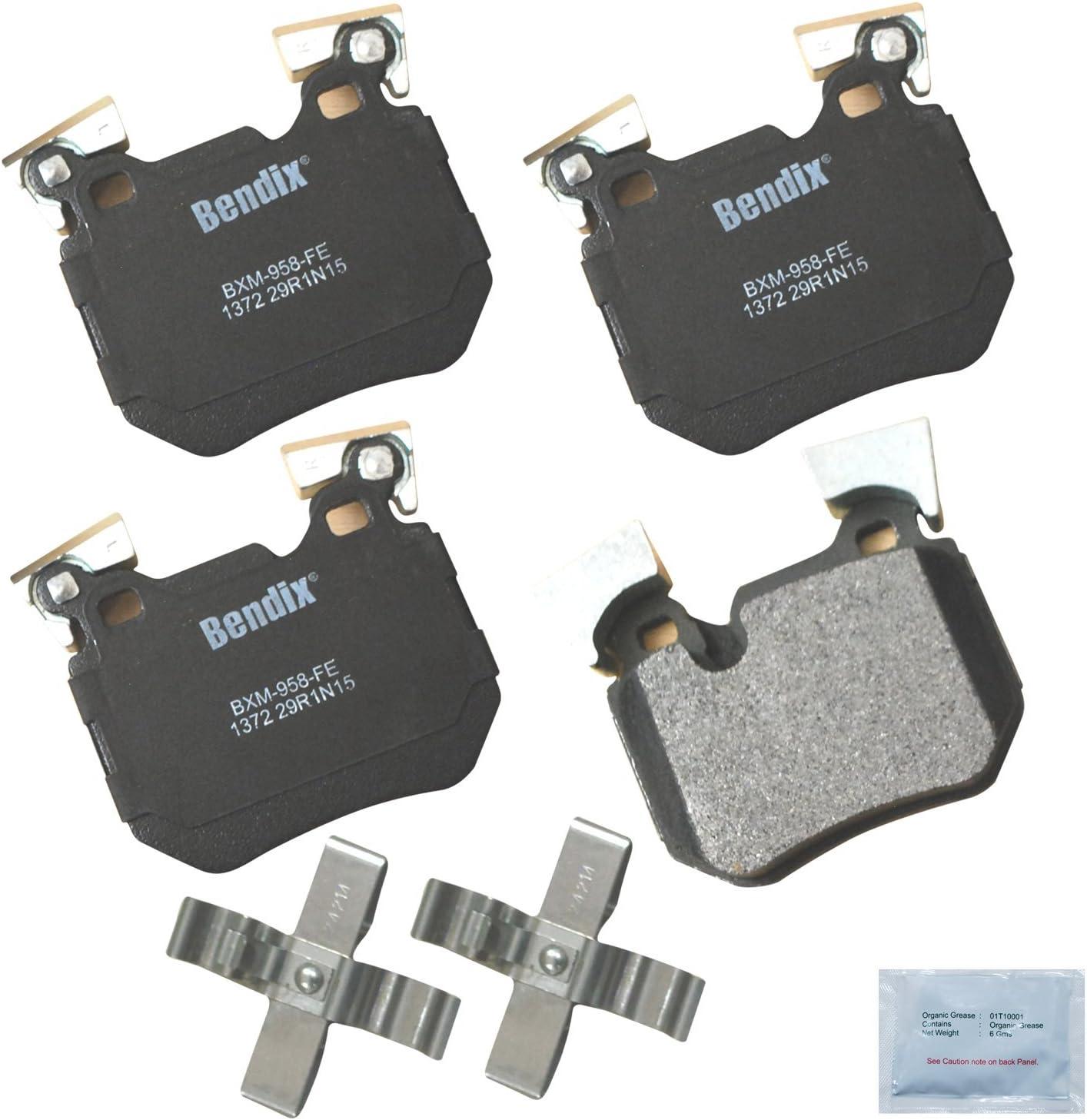 Bendix Premium Copper Free CFM1372 Premium Copper Free Semi-Metallic Brake Pad with Installation Hardware Rear