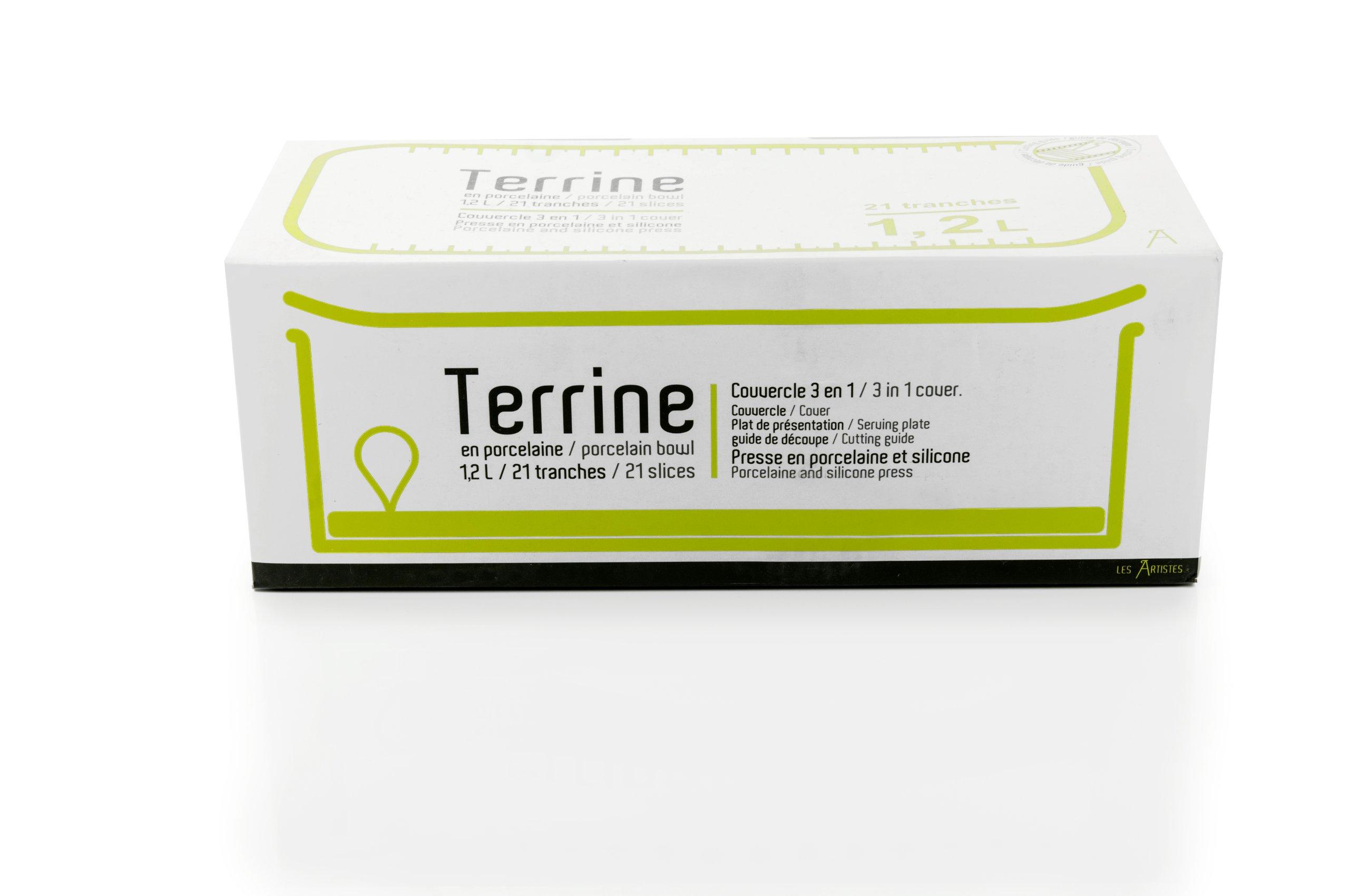 Les Artistes - Paris Terrine Box with Lid and Press 1.5L by by Les Artistes - Paris (Image #1)