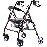 Giantex Drive Rollator Rolling Medical Walker Folding W/Basket Soft Seat Adult Health