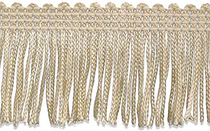 Beige Decorative Trimmings 100/% Rayon Chainette Fringe 2 x 9 yd