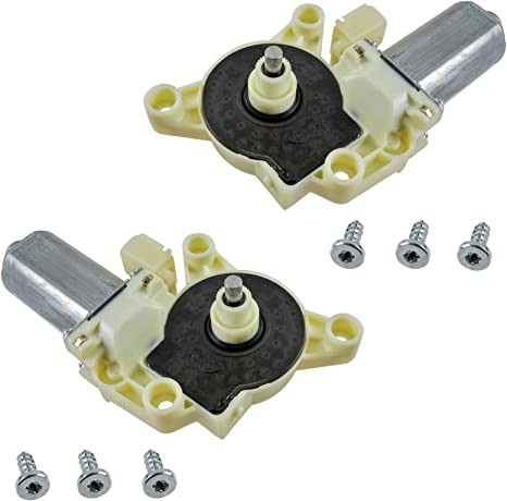 Power Window Regulator /& Anti-Pinch Motor Front Kit Pair Set of 2 for Sebring