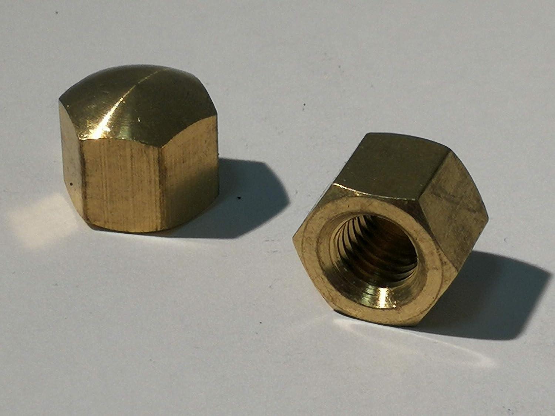 Lat/ón, M4 Tuercas de de sombrerete bronce de 5 piezas Material de lat/ón DIN 917