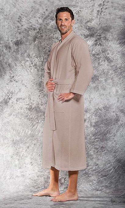 fa6b96190c Cloth Fusion Westin Waffle Unisex Bathrobe for Men and Women - Badami-  Large  Amazon.in  Home   Kitchen