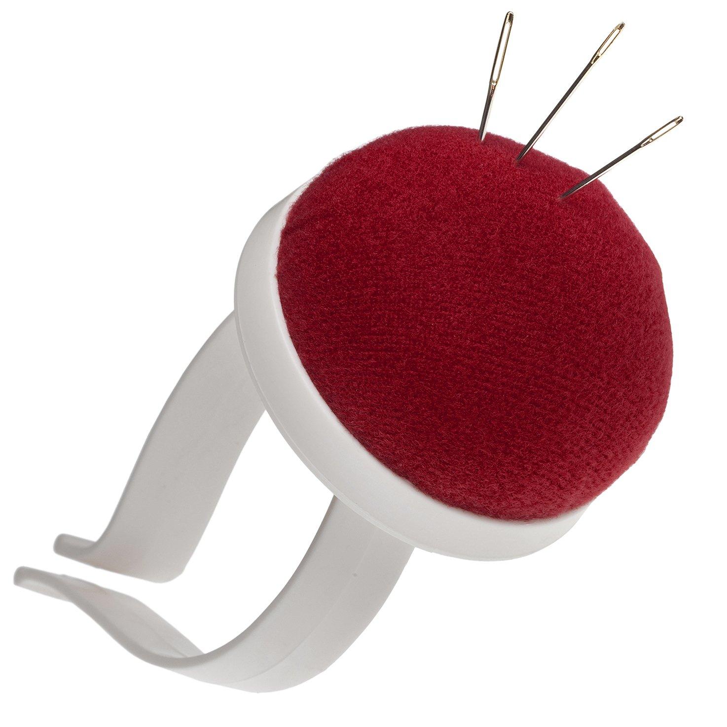 alfiletero para el Brazo mu/ñeca en Rojo con Pasador de pl/ástico Faden /& Nadel armnadel Coj/ín