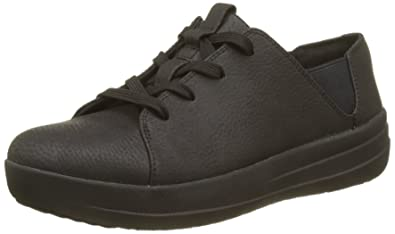 FitFlop F-Sporty Laceup Sneaker, Baskets Femme, Black (All Black), 36 EU