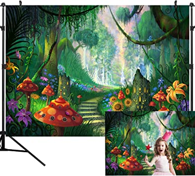 Amazon Com Ouyida 10x8ft Seamless Beautiful Forest Path Pictorial Cloth Photography Background Computer Printed Vinyl Backdrop Tp113c Electronics